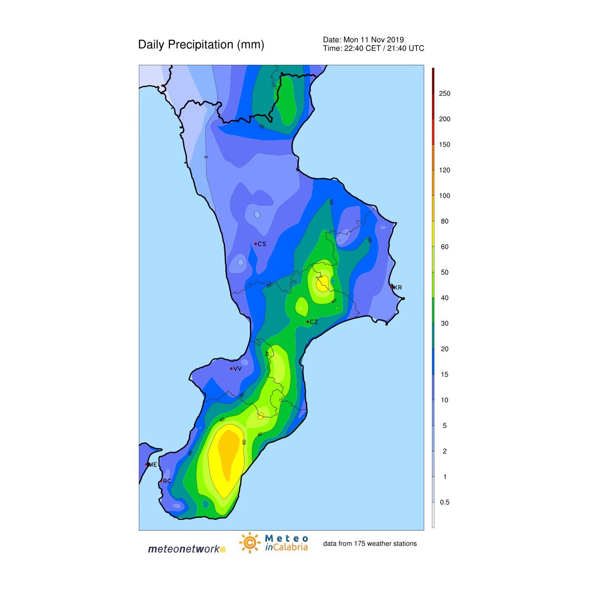 Meteo live nubifragi in corso