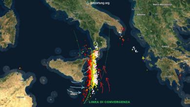 mappa fulmini blitzortung sud italia 24 novembre 2019