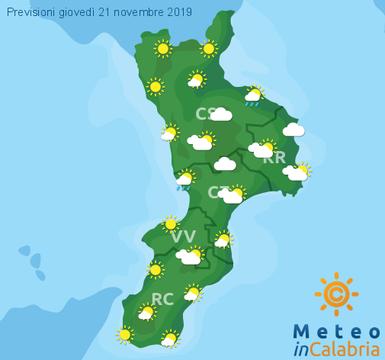 Previsioni Meteo Calabria 21-11-2019