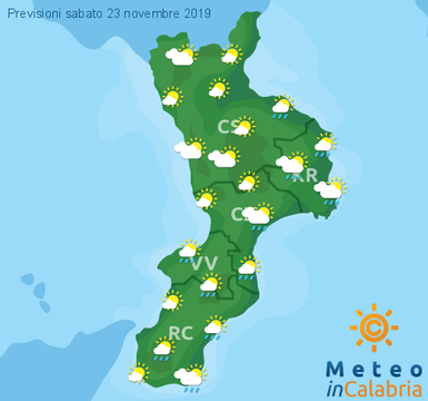 Previsioni Meteo Calabria 23-11-2019