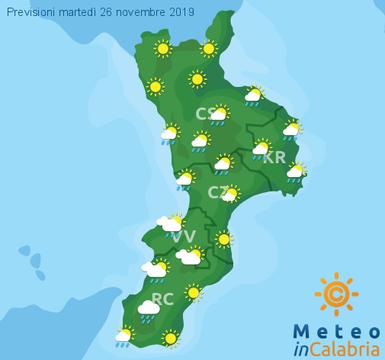 Previsioni Meteo Calabria 26-11-2019