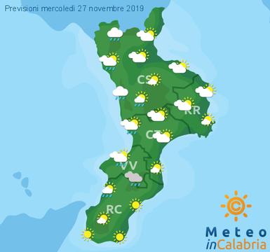 Previsioni Meteo Calabria 27-11-2019