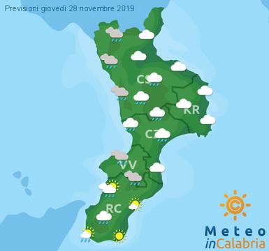 Previsioni Meteo Calabria 28-11-2019
