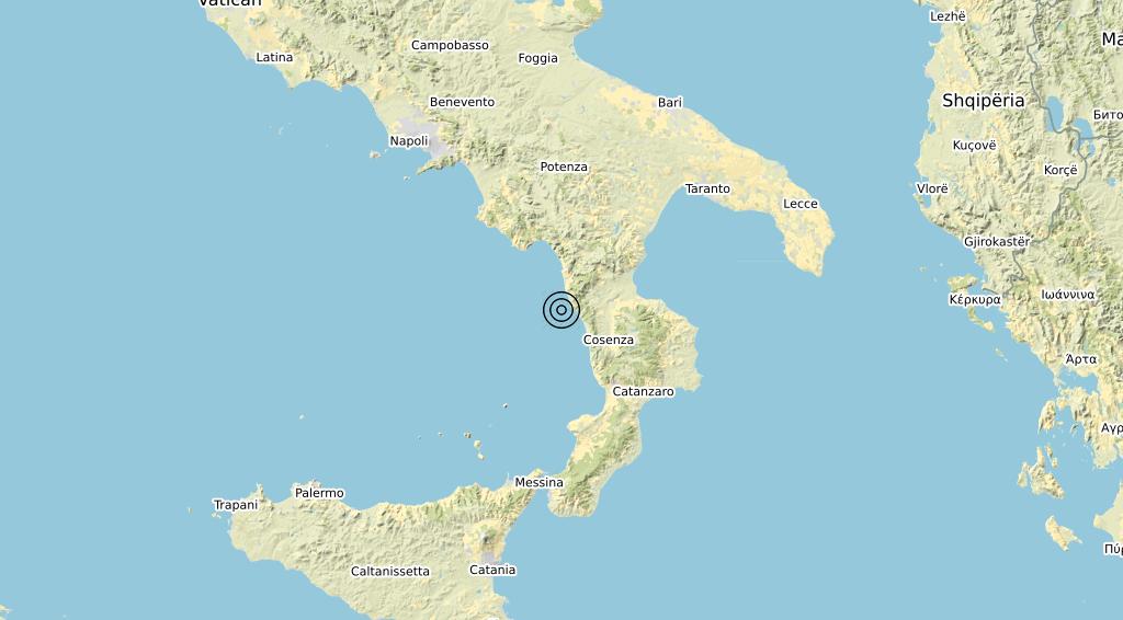 Terremoto Calabria 07-11-2019