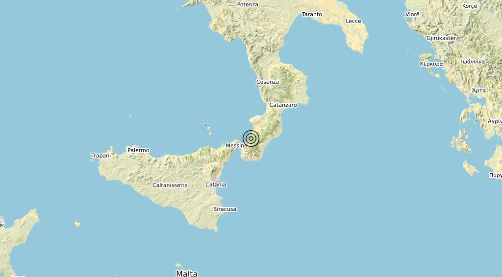 Terremoto Calabria 13-11-2019
