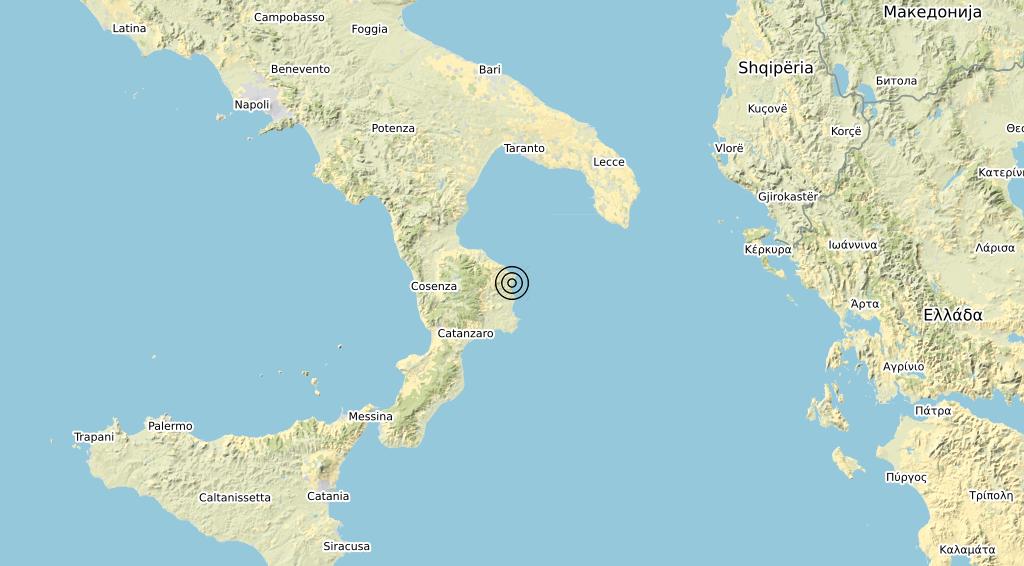 Terremoto Calabria 14-11-2019