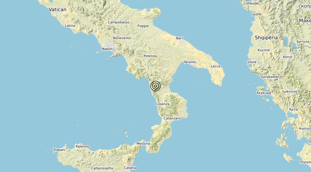 Terremoto Calabria 22-11-2019