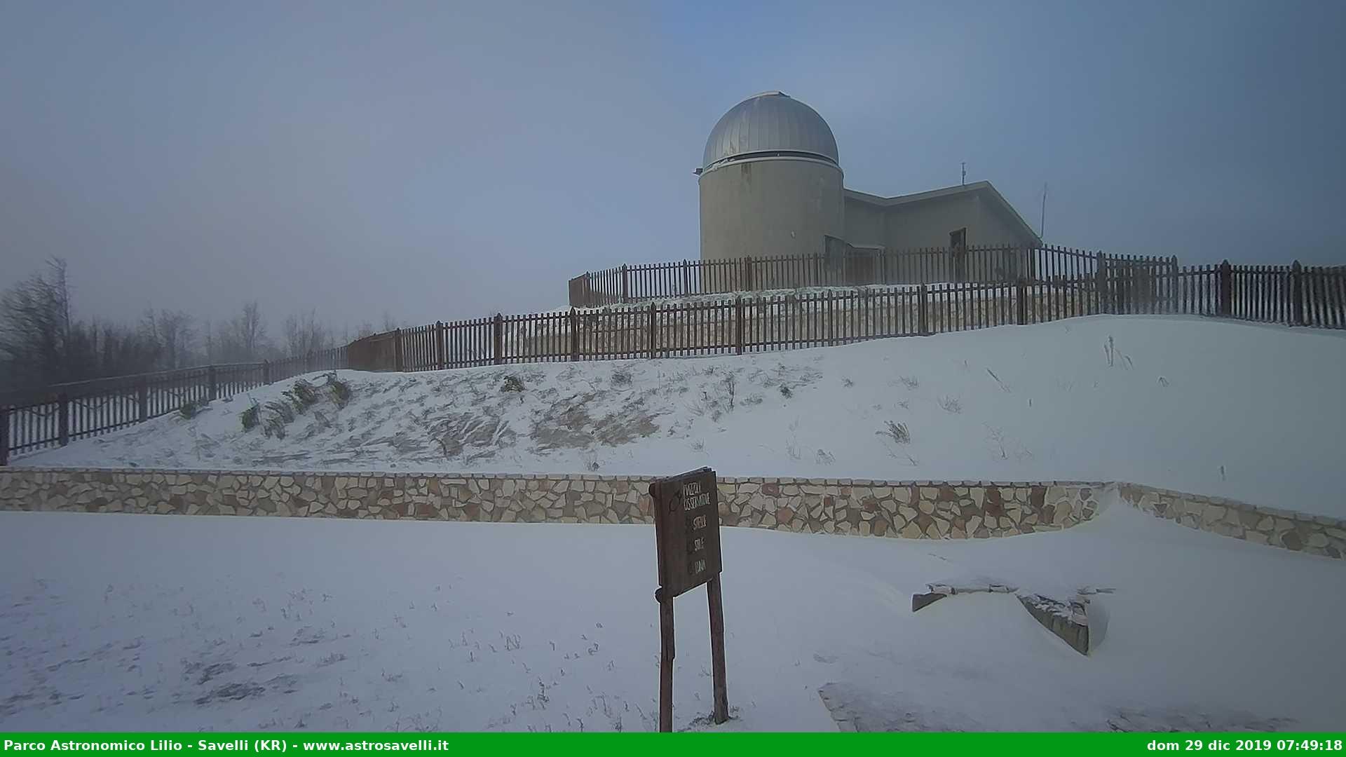 Savelli parco astronomico neve