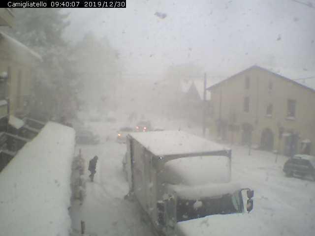 blizzard di neve in Sila