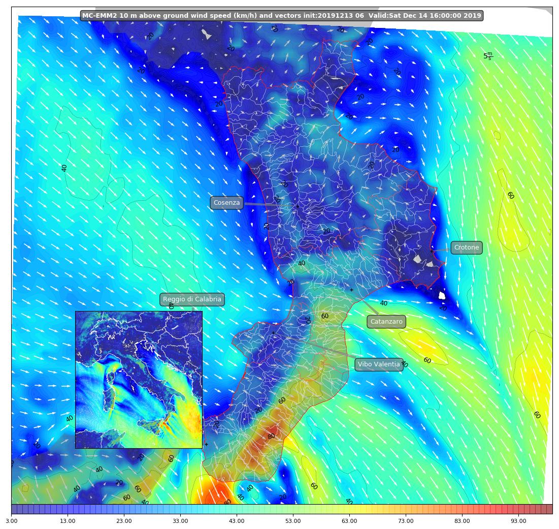 mappa venti wrf calabria 14 diecembre 2019 - burrasca forte (5)