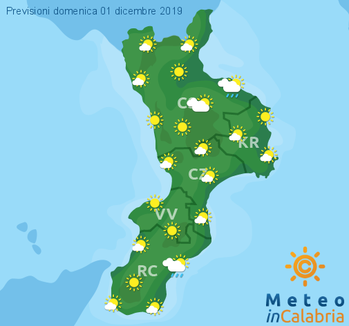 Previsioni Meteo Calabria 01-12-2019