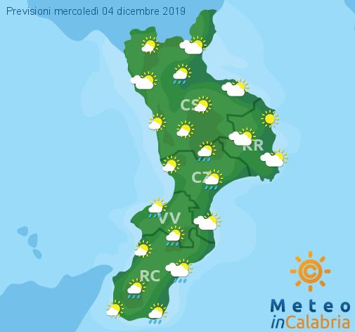Previsioni Meteo Calabria 04-12-2019