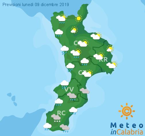 Previsioni Meteo Calabria 09-12-2019
