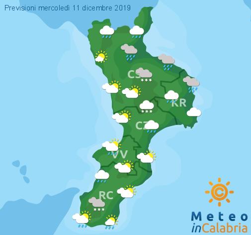 Previsioni Meteo Calabria 11-12-2019