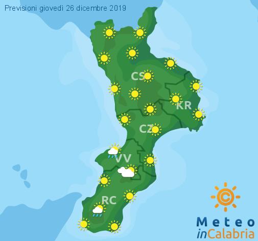 Previsioni Meteo Calabria 26-12-2019