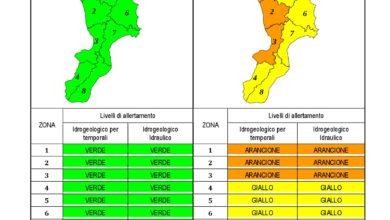 Criticità idrogeologica-idraulica e temporali in Calabria 12-12-2019