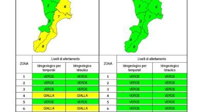 Criticità idrogeologica-idraulica e temporali in Calabria 19-12-2019