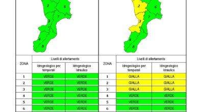 Criticità idrogeologica-idraulica e temporali in Calabria 20-12-2019