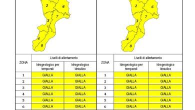 Criticità idrogeologica-idraulica e temporali in Calabria 22-12-2019