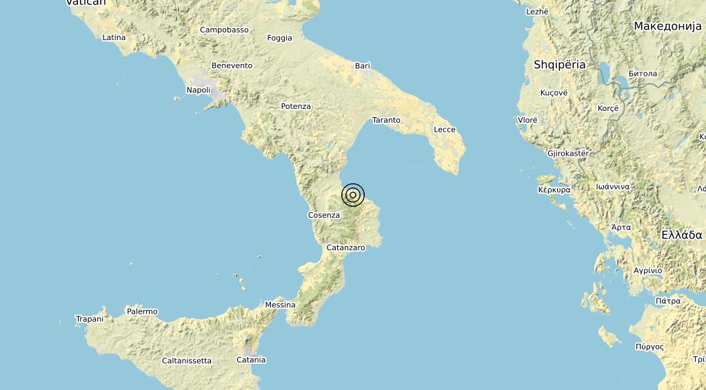 Terremoto Calabria 06-12-2019
