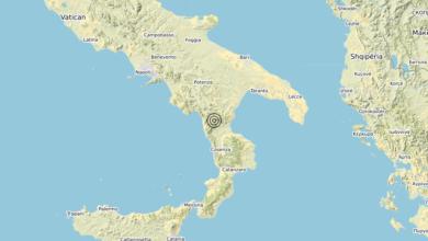 Terremoto Calabria 25-12-2019