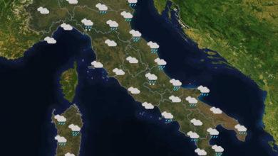 Previsioni del tempo in Italia per il giorno 19/01/2020