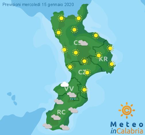 Previsioni Meteo Calabria 15-01-2020