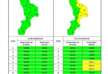 Criticità idrogeologica-idraulica e temporali in Calabria 19-01-2020