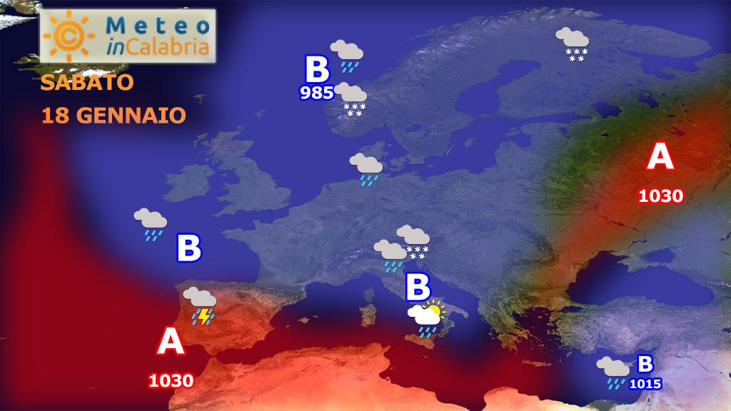Si attiva della variabilità sulla Calabria