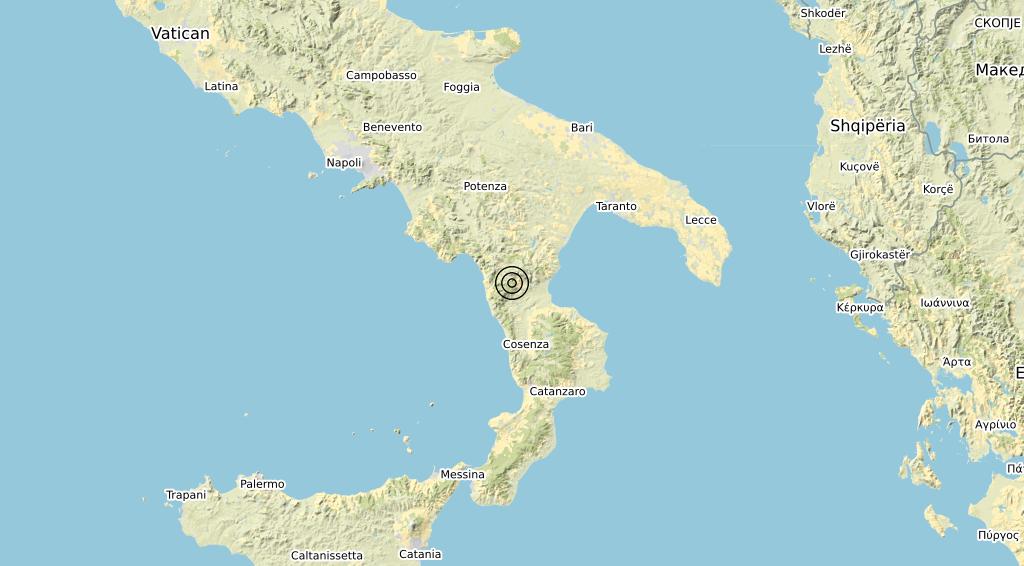 Terremoto Calabria 04-01-2020