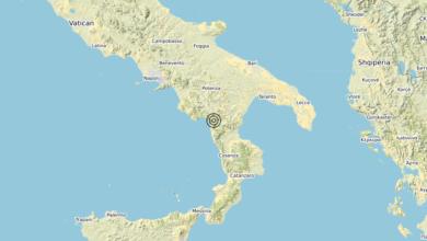 Terremoto Calabria 18-01-2020
