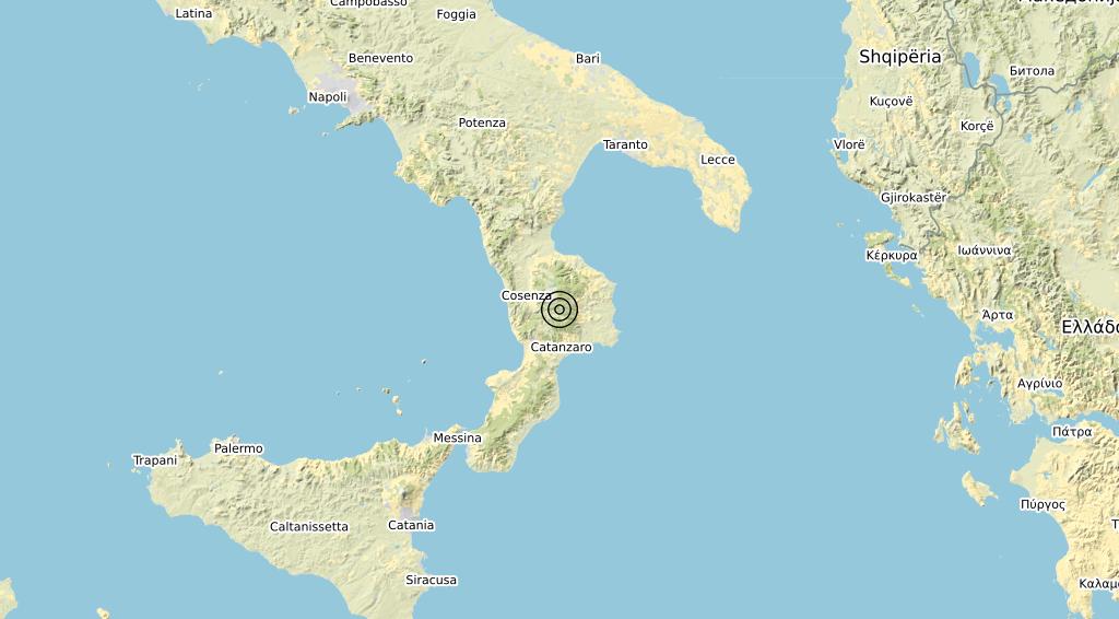 Terremoto Calabria 20-01-2020