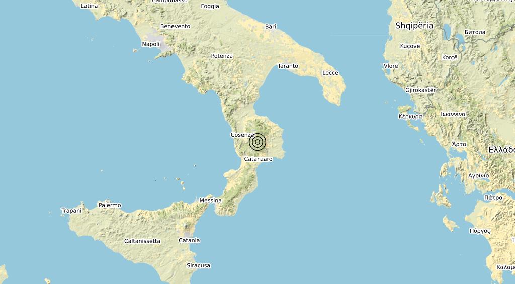 Terremoto Calabria 22-01-2020