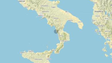 Terremoto Calabria 23-01-2020