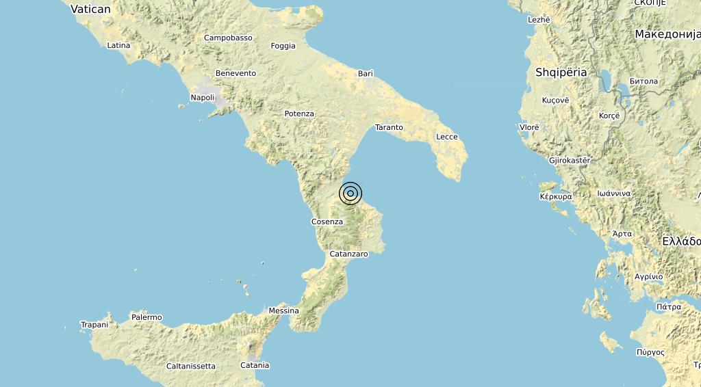 Terremoto Calabria 24-01-2020