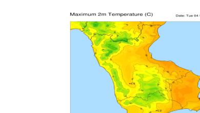mappa temperature massime 4 febbraio 2020