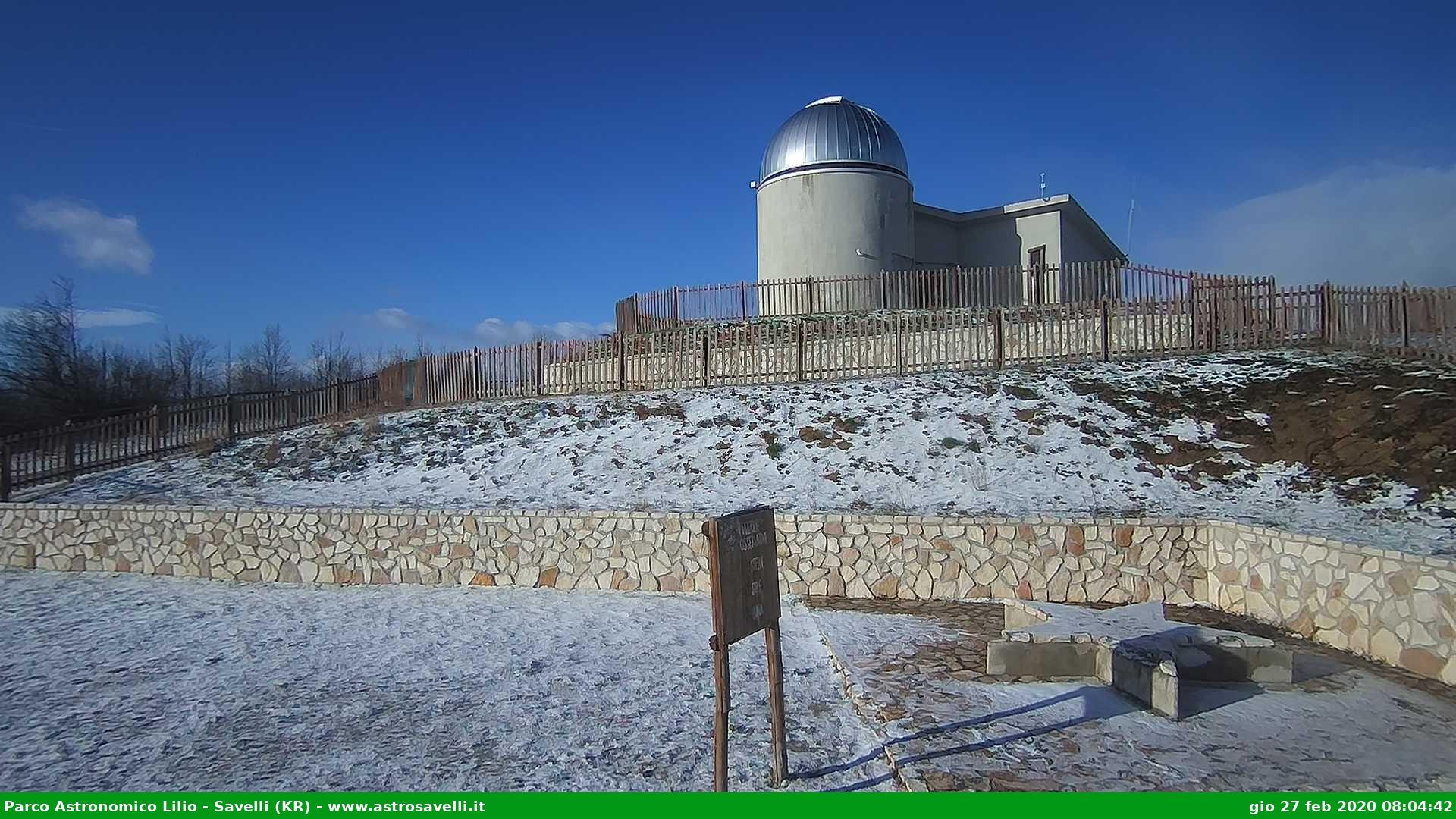 parco astronomico lilio savelli neve 27 febbraio 2020