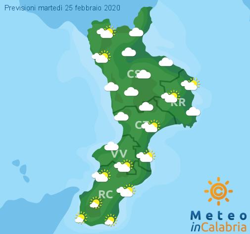 Previsioni Meteo Calabria 25-02-2020