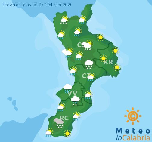 Previsioni Meteo Calabria 27-02-2020