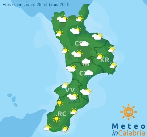 Previsioni Meteo Calabria 29-02-2020