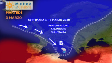 sinottica 1 - 7 marzo 2020 perturbazioni atlantiche