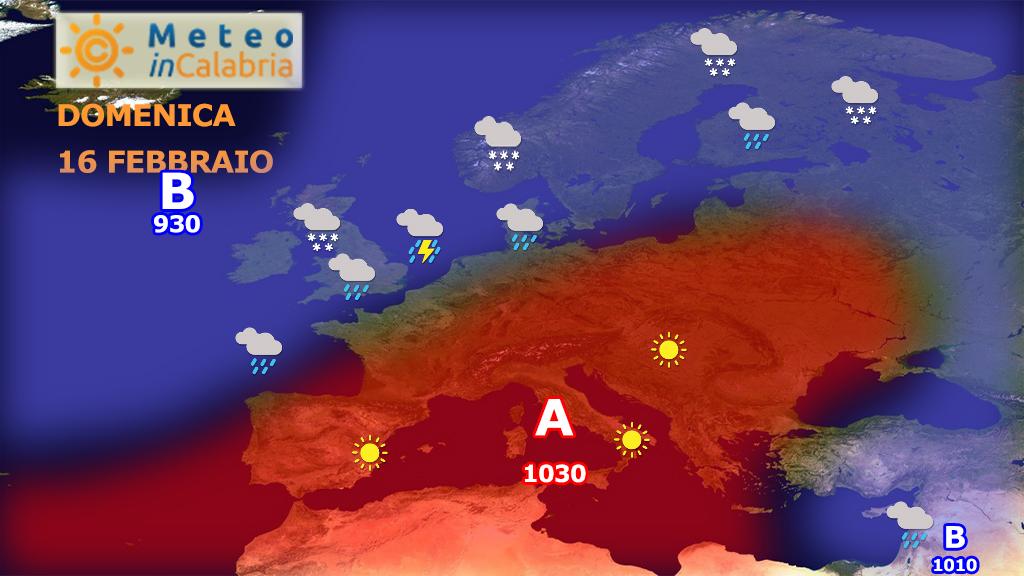 Fase stabile e soleggiata sulla Calabria