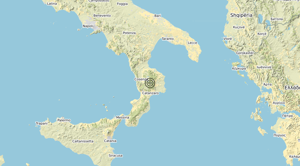 Terremoto Calabria 01-02-2020