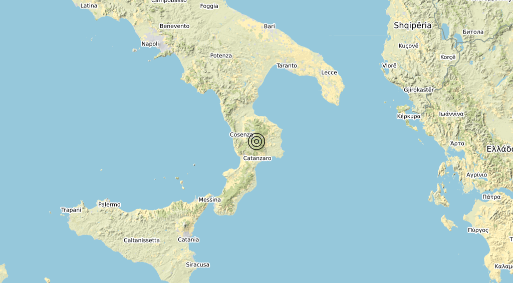 Terremoto Calabria 02-02-2020