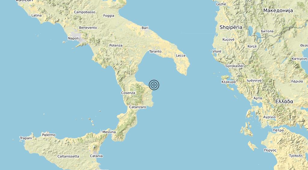 Terremoto Calabria 13-02-2020