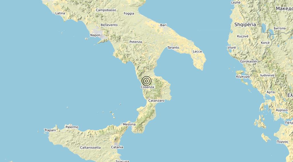 Terremoto Calabria 15-02-2020