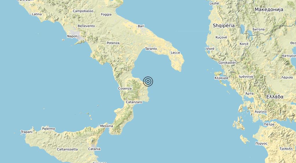 Terremoto Calabria 28-02-2020