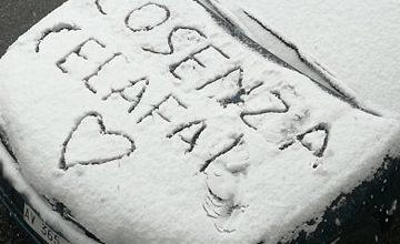 Cosenza ce la fai neve 25 marzo 2020