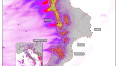 mappa piogge previste calabria 3 marzo 2020 wrf