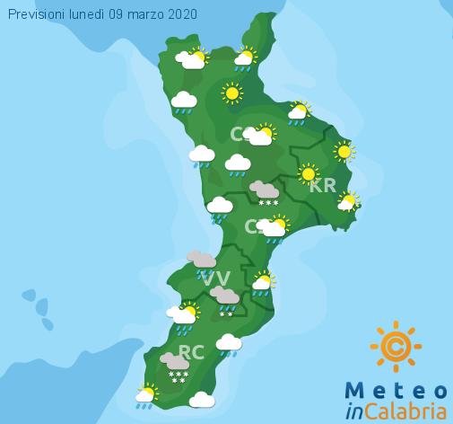 Previsioni Meteo Calabria 09-03-2020